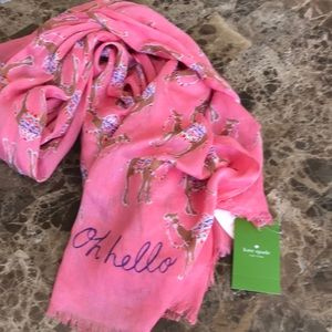 Kate Spade oblong scarf with camels